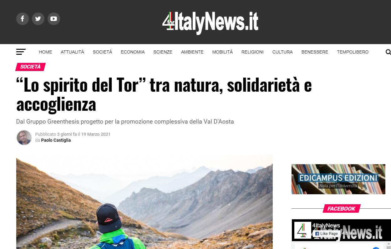 """""""Lo spirito del Tor"""" tra natura, solidarietà e accoglienza – foritaly"""